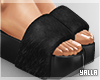 Fur High Slides BLACK