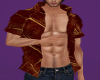 Rust n Gold open shirt