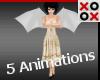 Unisex White Kid Wings