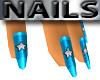 Blue Nails Diamond Star