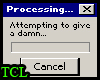 Attempting to give a dam