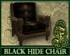 Black Hide Chair