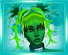 Toxic green hair Spiked