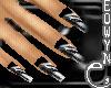 *E* black & white nails