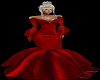 Z: Red Satin Ball Gown