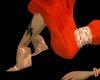 {7} Orange Wedge Heel