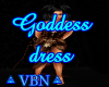 Goddess dress brown dark