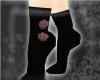 Cupcake Heel Socks~Black
