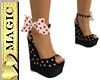 Pk/Bk Polka Dot Shoes