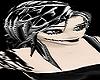 blk white emo hair