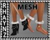 Ankle Fur Puffs Mesh