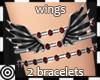 *m Wings Silvr Bracelets