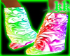 Rave Rainbow Puffy Boots