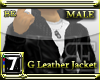 [BE] G LEATHER JACKET B