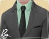 Charcoal + Mint Suit