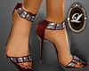 LIZ Gem heel red silv