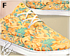 Orange Floral Shoes