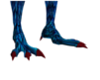 Blue and red Dragon feet