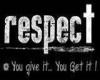 respect sticker