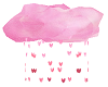 pink falling heart cloud