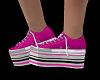 Platform Sneakz Hot-Pink