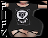 Blk Cat T-shirt dress