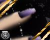 }T{ Purple nails