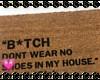 No Shoes Doormat