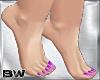 Feet Purple Glitter Nail