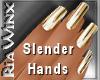 Wx:Slender 14k Gold Nail