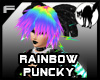 Rainbow puncky hair