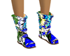 Blue Print Flat Boots