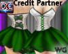 Ballet Party Dress Green
