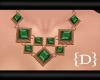 {D} BronzeGreen Necklace