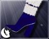 {M} Blue Xmas Fur Boots