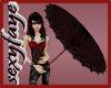 red/black umbrella
