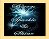 Bloom Sparkle Shine Stkr