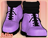 [Miso]Lilac Combat Boots