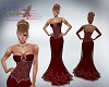 Katz~ Red Corset Gown