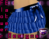 Ruffled Skirt-Royal