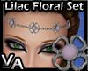VA Lilac Floral Set C