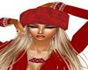 Red fur hat