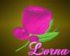 Hot Pink Lapel Flower