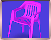 :Pink Plastic Chair: