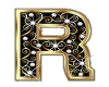 Gold & Diamonds Letter R