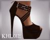 K dark brown heels