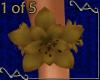 VA~ 1 Gold Lily Anklet
