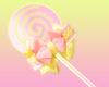 yellowy pink lolipop