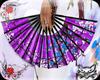 ! Geisha fan purple