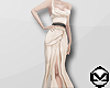 m> Beige Floor Gown